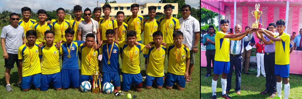 SAS crowned Bengal & North East champion in the ICSE under-17 football tournament held at Kolkota